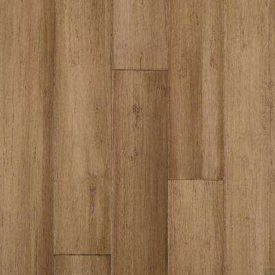 Hand Scraped Strand Woven Almond 1/2 in. T x 5-1/8 in. W x 72-7/8 in. L Solid Bamboo Flooring (25.88 sq. ft. / case)