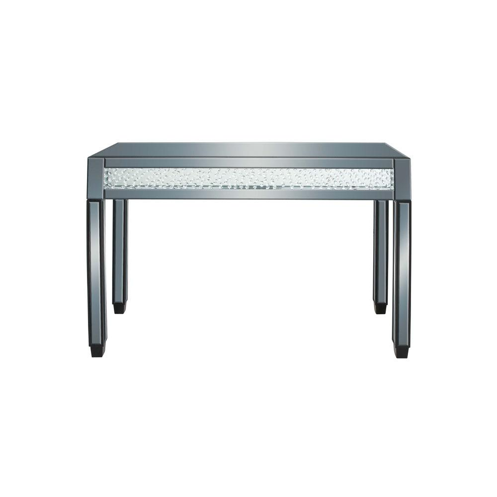 null Clear Reflective Glass and Mirror Console Table