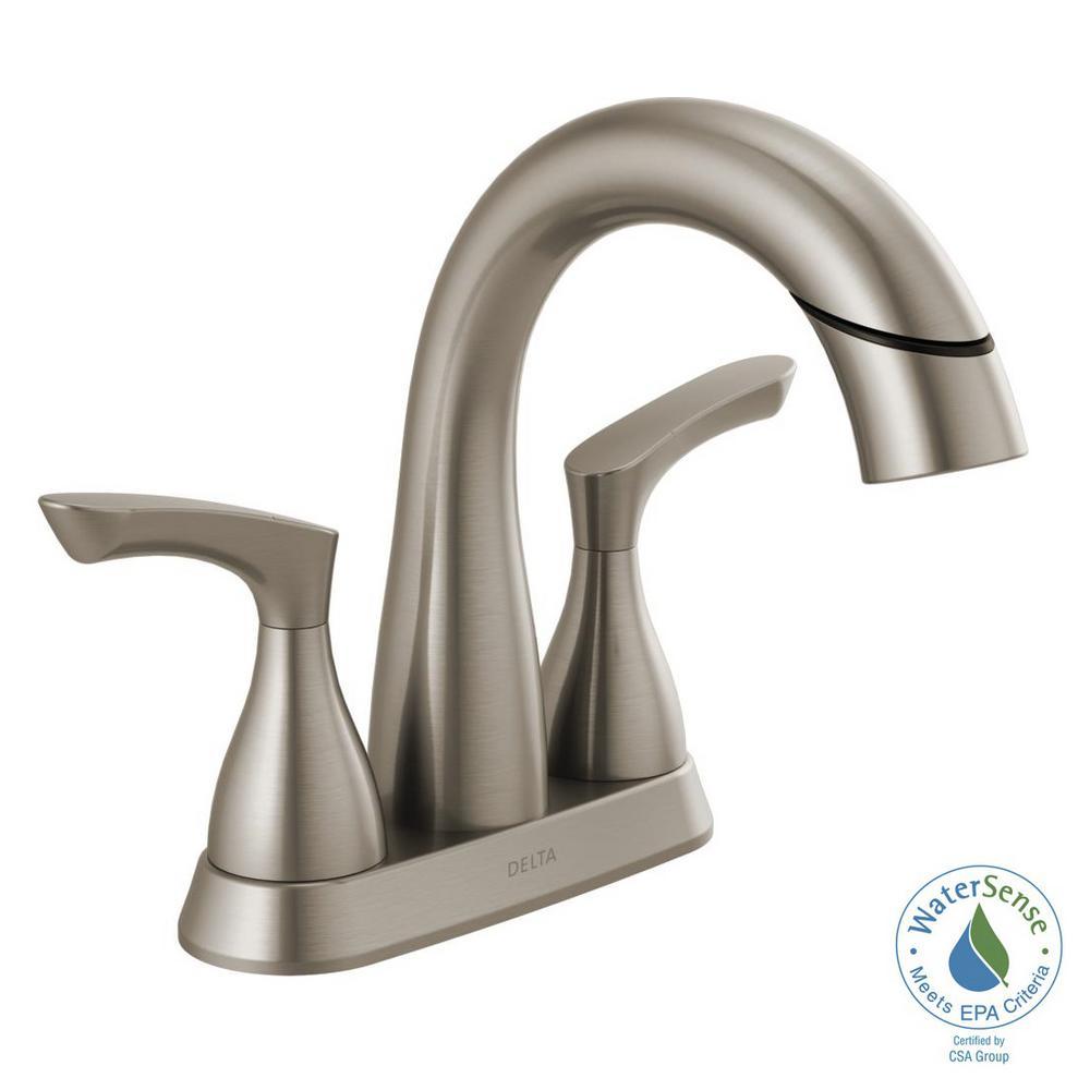 Delta Broadmoor 4 In Centerset 2 Handle Pull Down Spout Bathroom