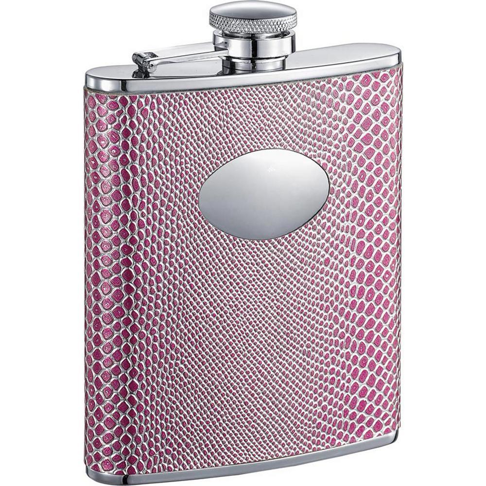Viper Pink Snakeskin Hip Flask