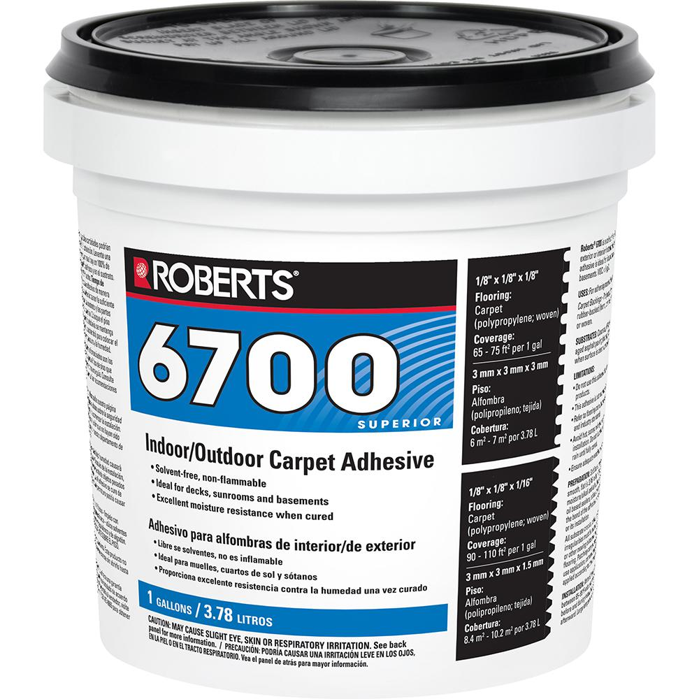 Roberts 6700 1 Gal. Indoor/Outdoor Carpet and Artificial Turf Adhesive