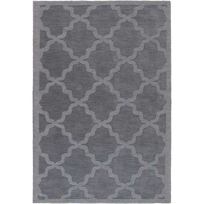 Central Park Abbey Charcoal 4 ft. x 6 ft. Indoor Area Rug