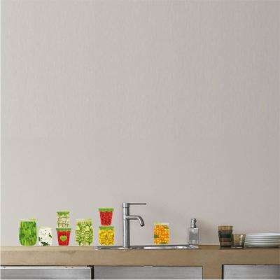 Multi-Color Cans of Food Adhesive Wall Decal