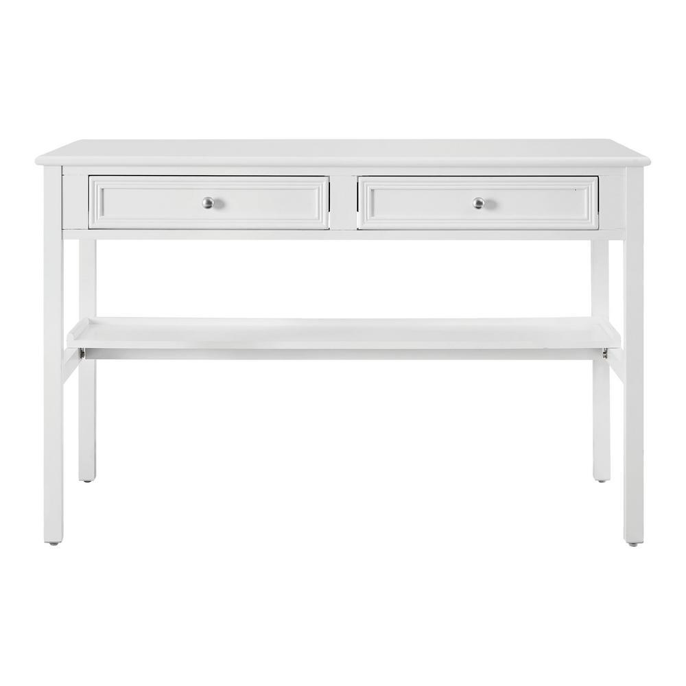 Bradstone 47.80 in. White Writing Desk