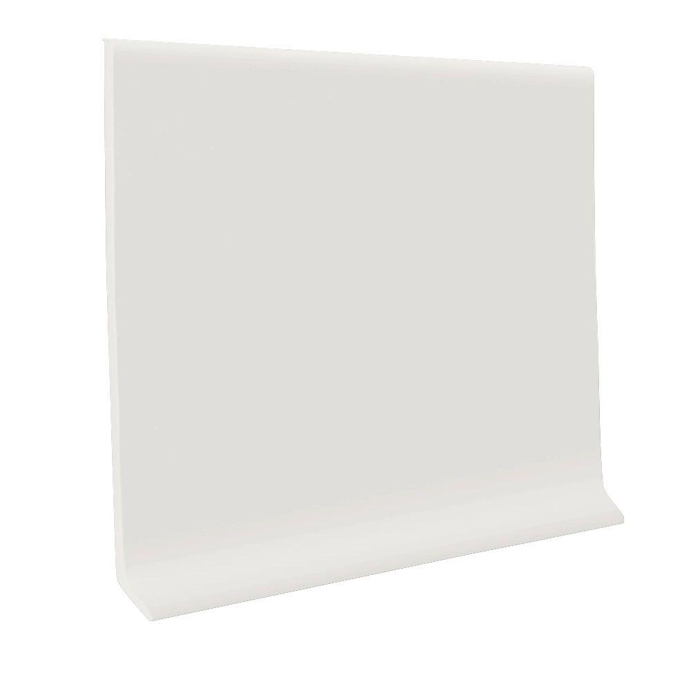 Roppe White 4 In X 1 8 In X 120 Ft Vinyl Wall Cove Base