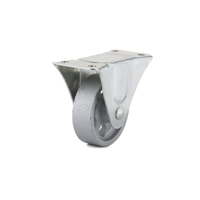 4-1/32 in. Metal Fixed plate Caster, 247 lb. Load Rating