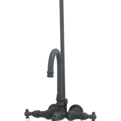TW15 2-Handle Wall-Mount Roman Tub Faucet without Handshower in Oil Rubbed Bronze