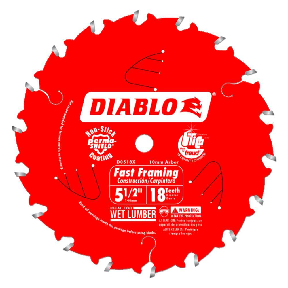 Diablo 5-1/2 in. x 18-Tooth Framing Saw Blade