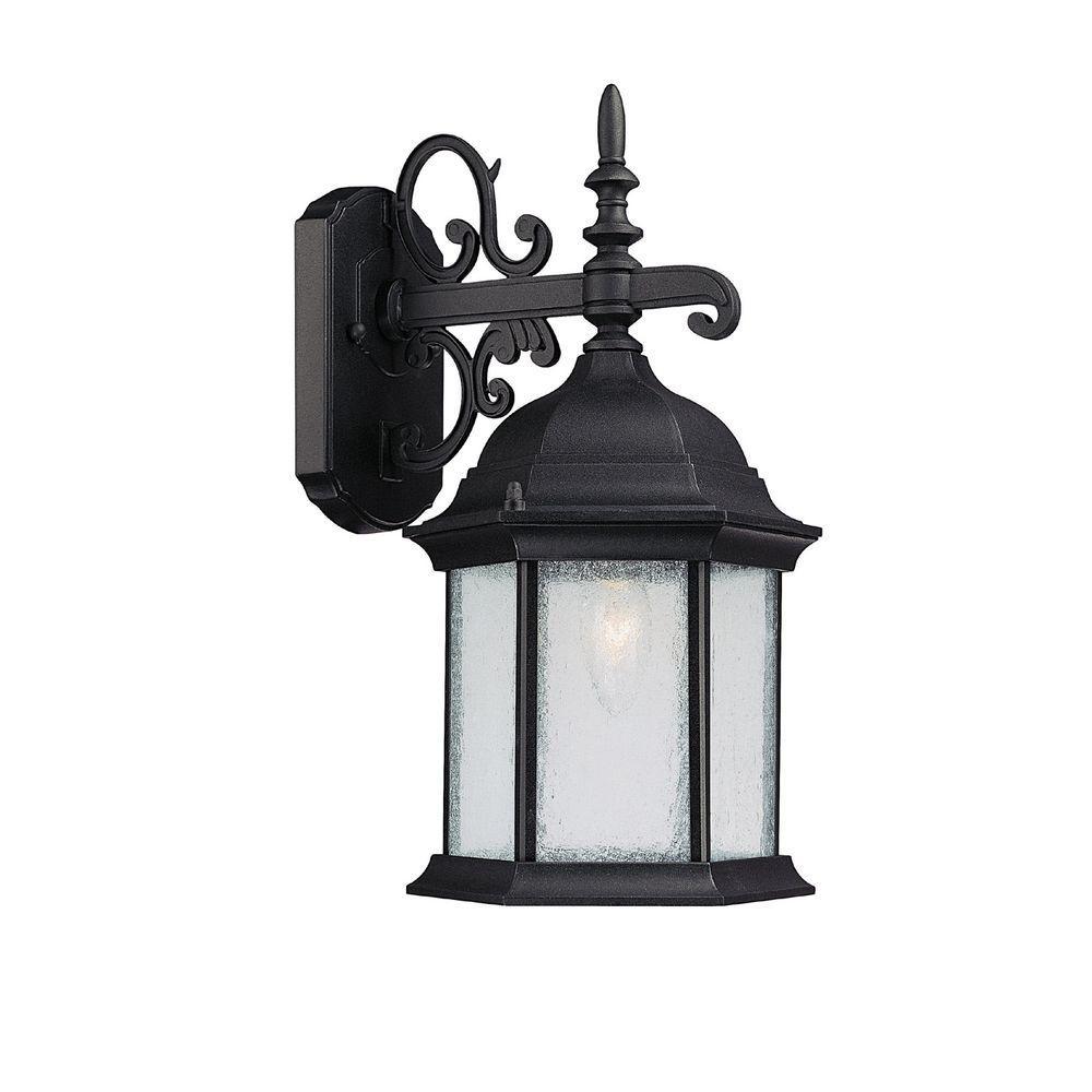 Johnson 1-Light Black Incandescent Outdoor Wall Lantern