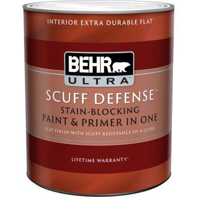 1 qt. Medium Base Extra Durable Flat Interior Paint and Primer in One