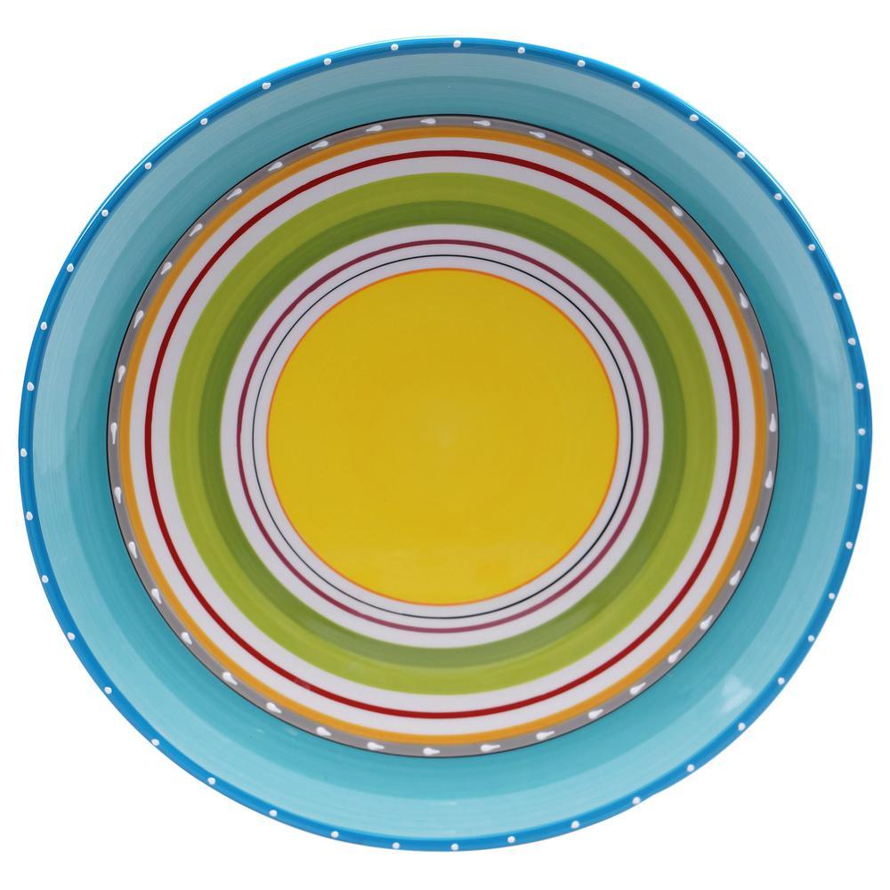 Mariachi Multi-Colored Round Serving Platter
