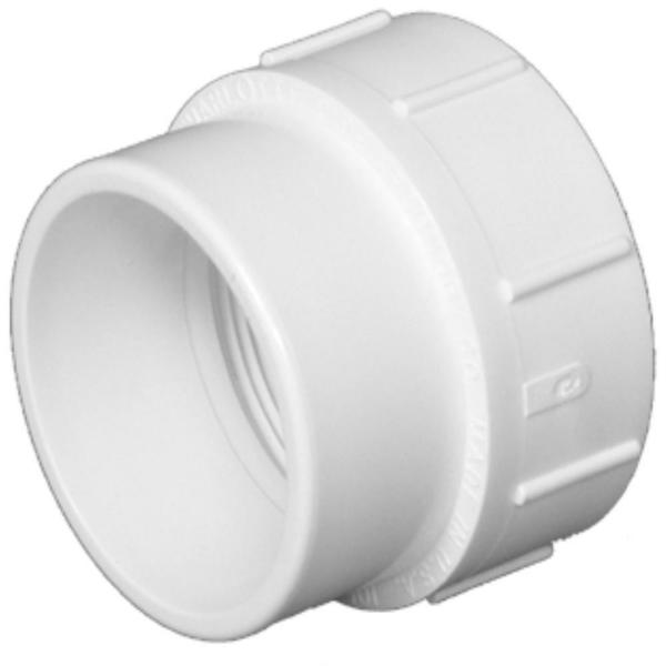 10 in. PVC DWV Spigot x FPT Fitting Cleanout Adapter