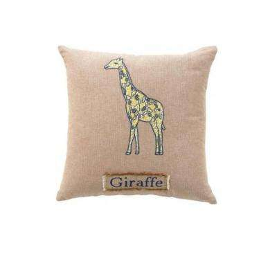 Giraffe 18 in. Square Decorative Pillow