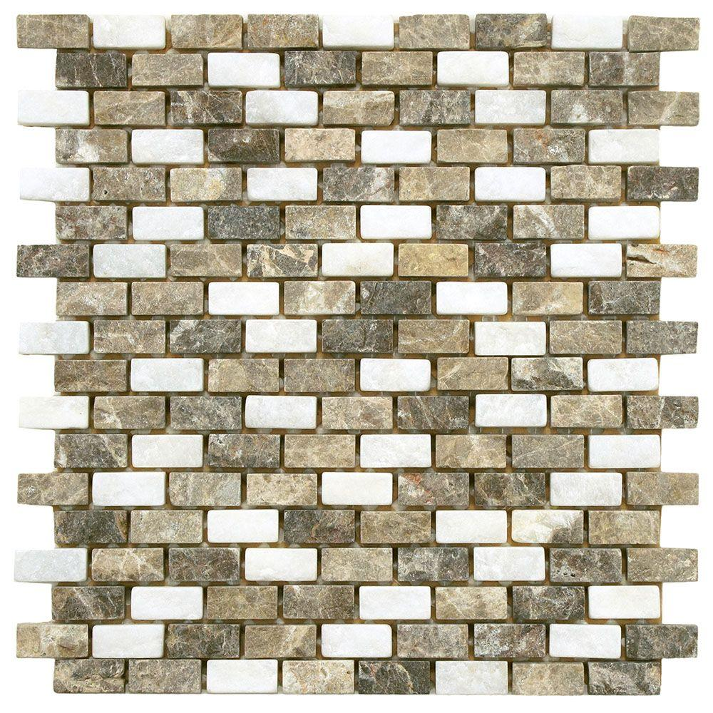 Merola Tile Griselda Subway Sand 12 in. x 12 in. x 9 mm Natural ...