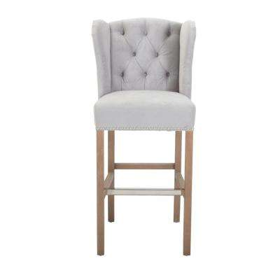 Madelyn 31.25 in. Fog Velvet Cushioned Bar Stool ...  sc 1 st  The Home Depot & Bar Stools - Kitchen u0026 Dining Room Furniture - The Home Depot islam-shia.org