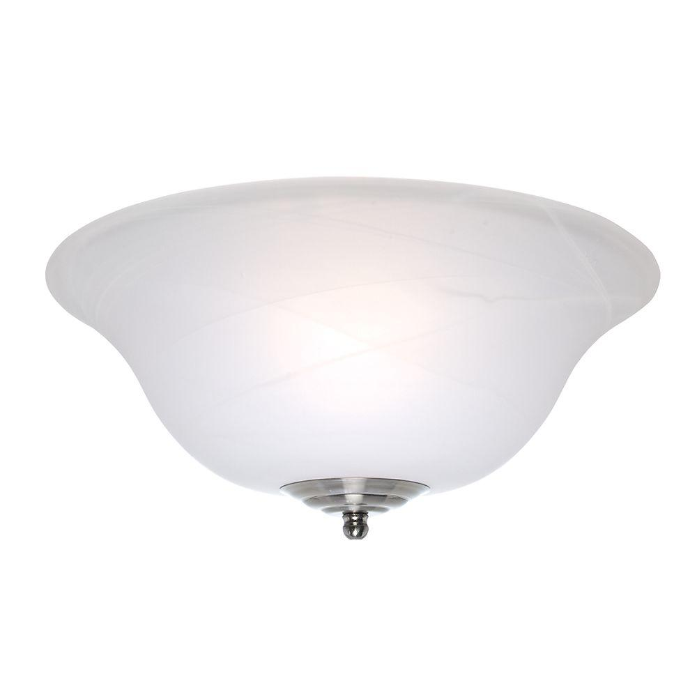 Casablanca Glass Bowl Ceiling Fan Light Cover with White Marble-DISCONTINUED