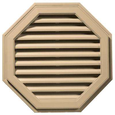 32 in. Octagon Gable Vent in Sandstone Maple