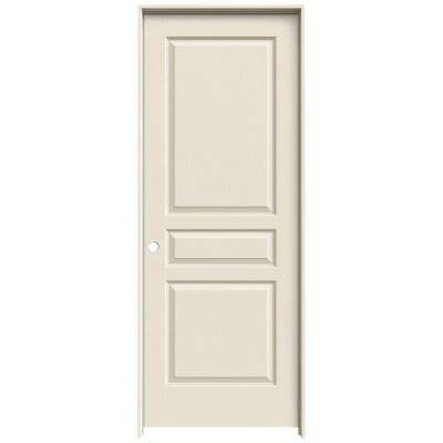30 in. x 80 in. Avalon Primed Right-Hand Textured Hollow Core Molded Composite MDF Single Prehung Interior Door