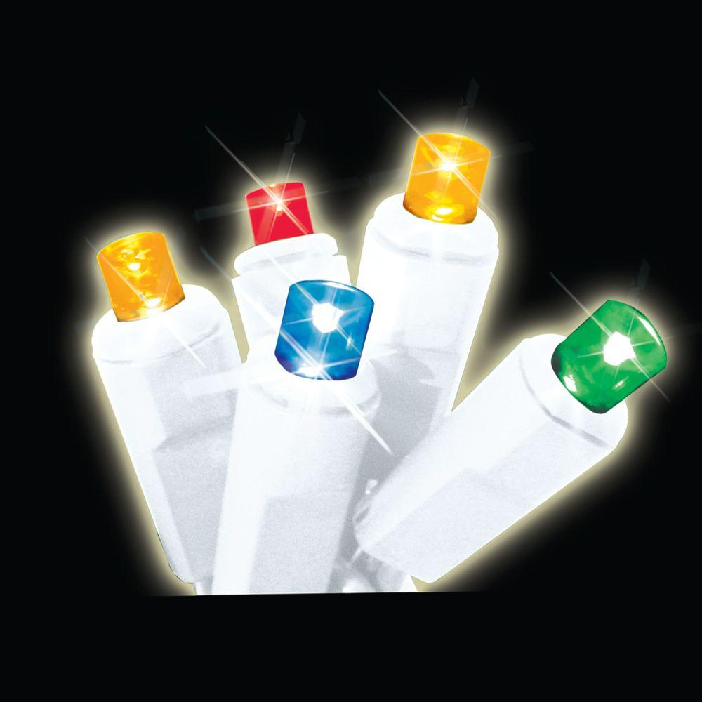 Brite Star 35-Light LED Multi-Color Battery-Operated Icicle Light Set
