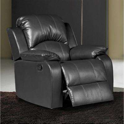 Clarksville Black Leatherette Recliner & Black - Recliners - Chairs - The Home Depot islam-shia.org