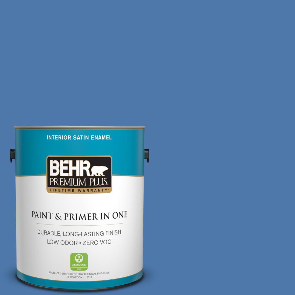 Home Decorators Collection 1 gal. #HDC-FL13-6 Baltic Blue Satin Enamel Zero