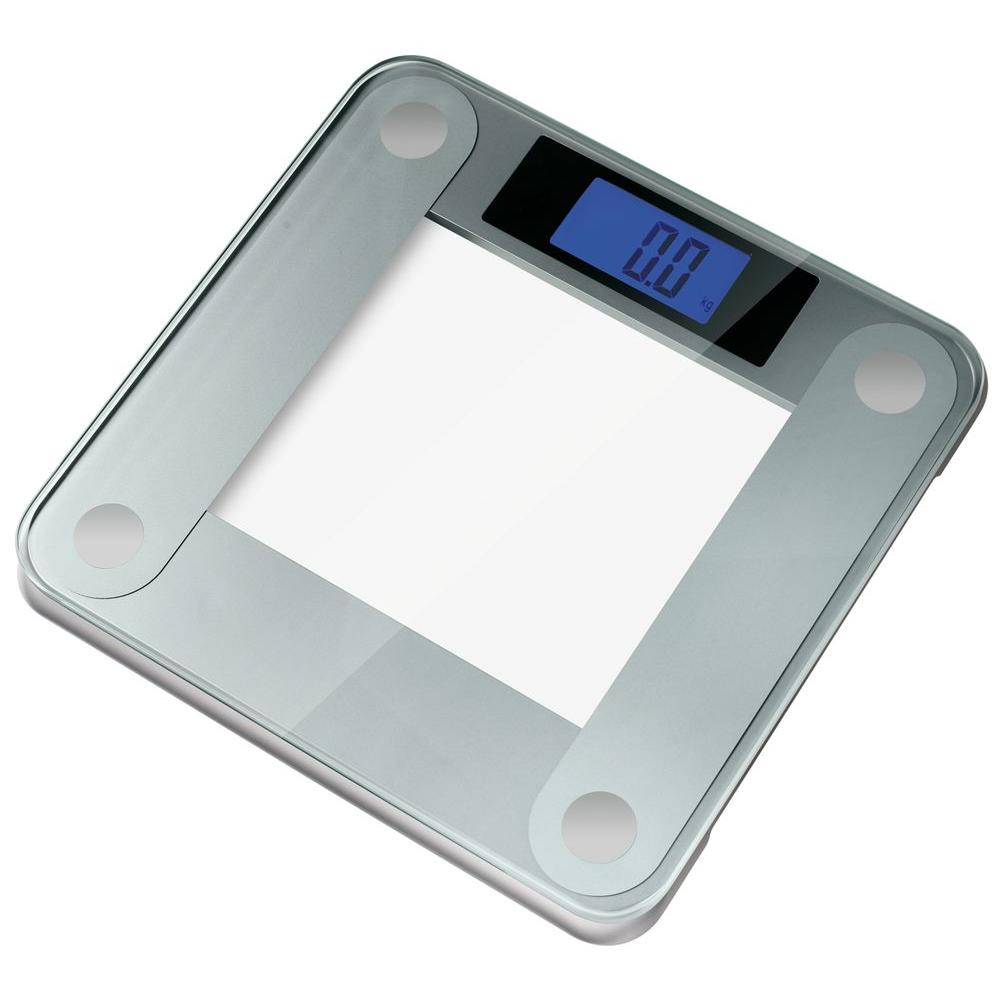 Precision II Digital Bathroom Scale With Widescreen Blue Backlit Xbright LCD
