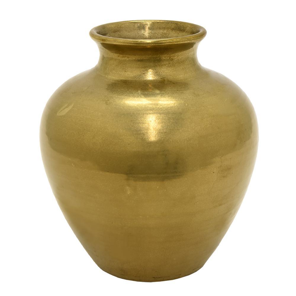 Gold Ceramic Decorative Vase