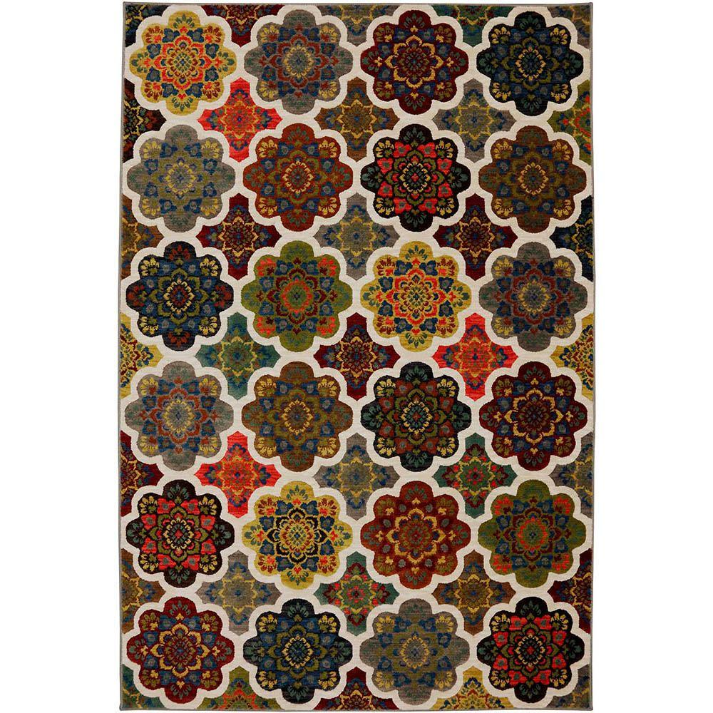 Karastan Tansy Bungee Cord 5 ft. 6 in. x 8 ft. 3 in. Area Rug