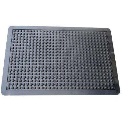Black 2 ft. x 3 ft. Rubber Anti Fatigue Mat