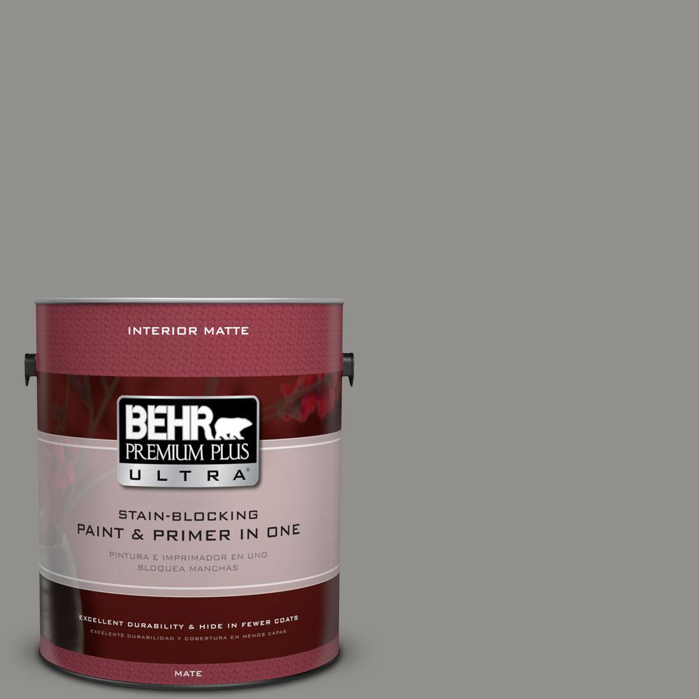 BEHR Premium Plus Ultra Home Decorators Collection 1 gal. #HDC-AC-19 Grant Gray Flat/Matte Interior Paint
