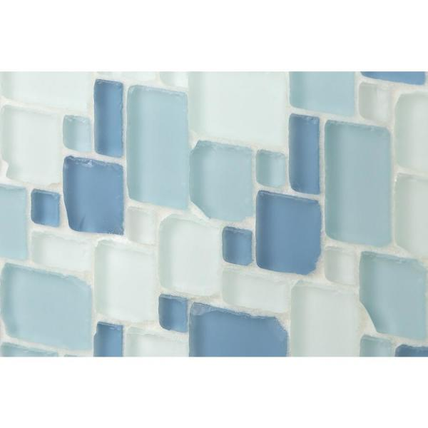 Ivy Hill Tile Ocean Wave French Pattern Beached 12 In X 12 In X 8 Mm Frosted Glass Mosaic Tile Ext3rd100388 The Home Depot