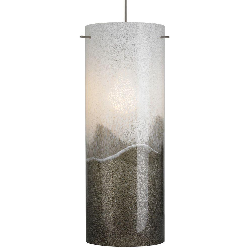 Dahling Grande 1-Light Bronze Fluorescent Pendant with Gray Shade