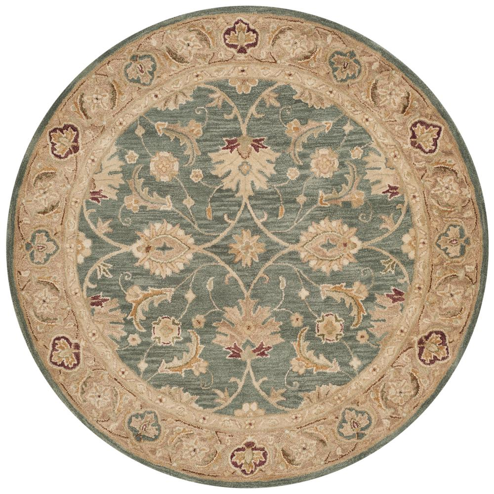 Safavieh Antiquity Teal Blue Taupe 6 Ft X 6 Ft Round