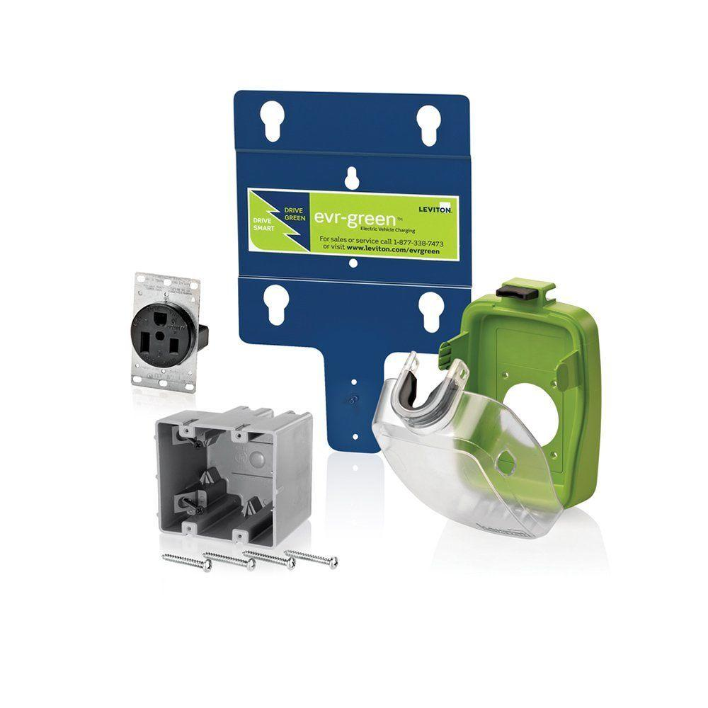 Leviton Ever-Green 50-Amp 240-Volt Pre-Wire Installation Kit for EVB32-H18 and EVB32-H25 Home Charging Stations