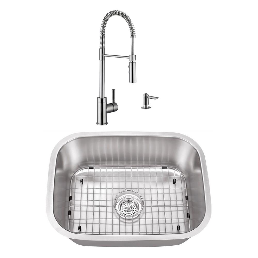 Stainless Steel Undermount Utility Sink Small Single Bowl With