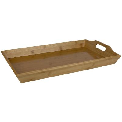 12 in. W x 2.5 in. H x 19.25 in. D Rectangular Bamboo Serving Tray