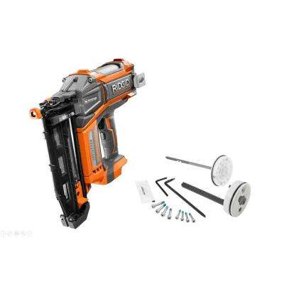 2-1/2 in. 18-Volt 16-Gauge Cordless Brushless Straight Nailer (Tool-Only), Bag, Sample Nails and Maintenance Kit