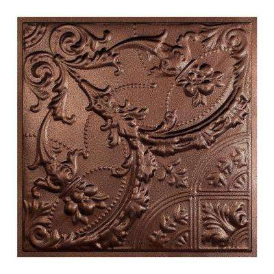 Saginaw 2 ft. x 2 ft. Lay-in Tin Ceiling Tile in Penny Vein