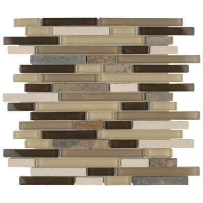 Tessera Piano Nassau 11-5/8 in. x 11-3/4 in. x 8 mm Glass and Stone Mosaic Tile