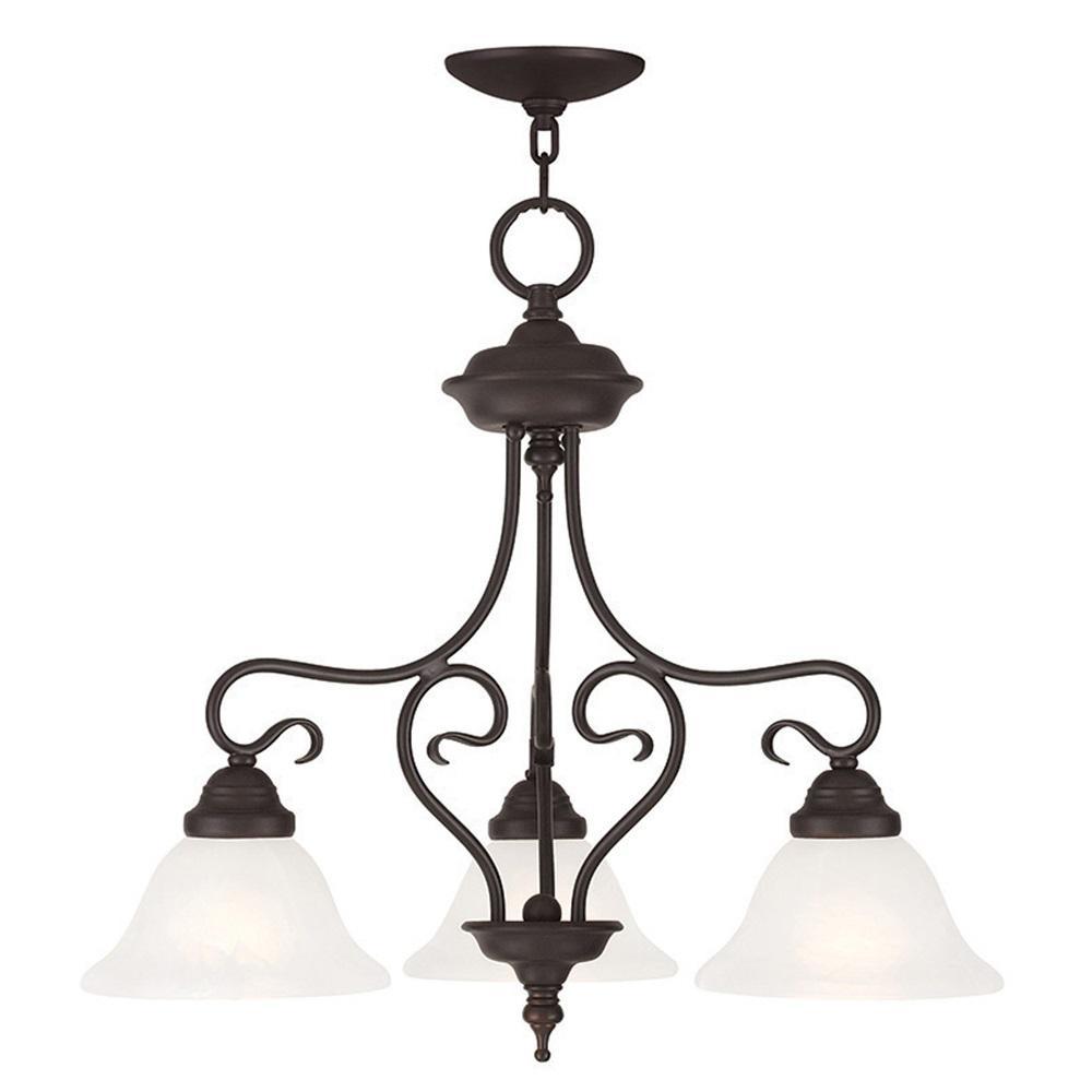 Livex Lighting Coronado 3-Light Bronze Pendant
