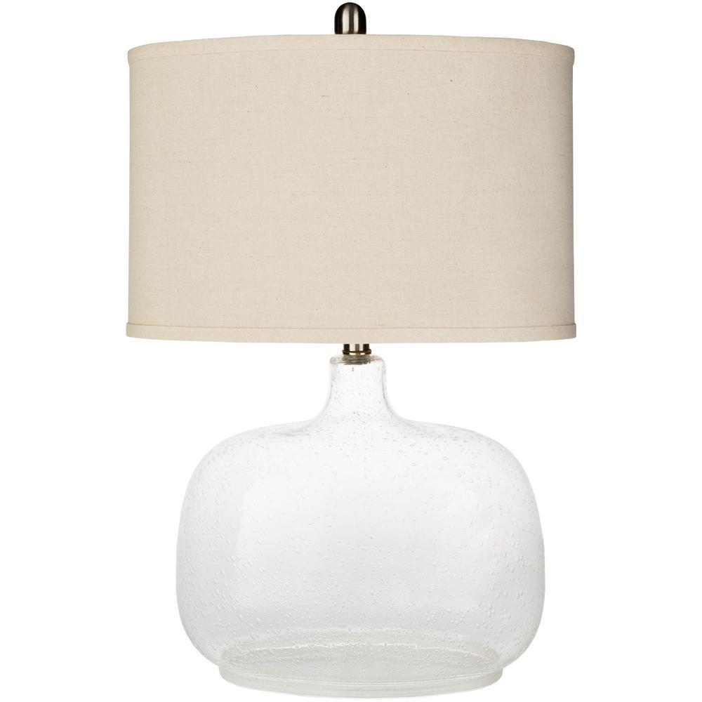 Antoine 24.5 in. Clear Indoor Table Lamp
