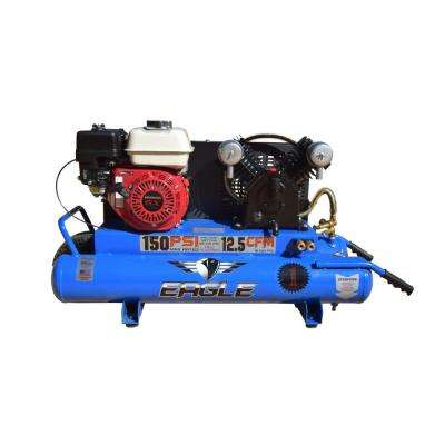 10 Gal. 5.5 HP Honda GX160 Gas Wheelbarrow Air Compressor