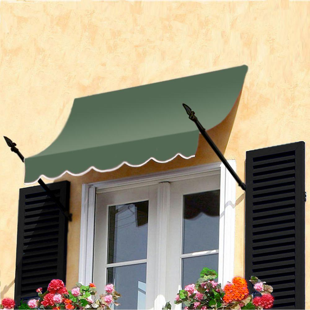 AWNTECH 8 ft. New Orleans Awning (44 in. H x 24 in. D) in Sage