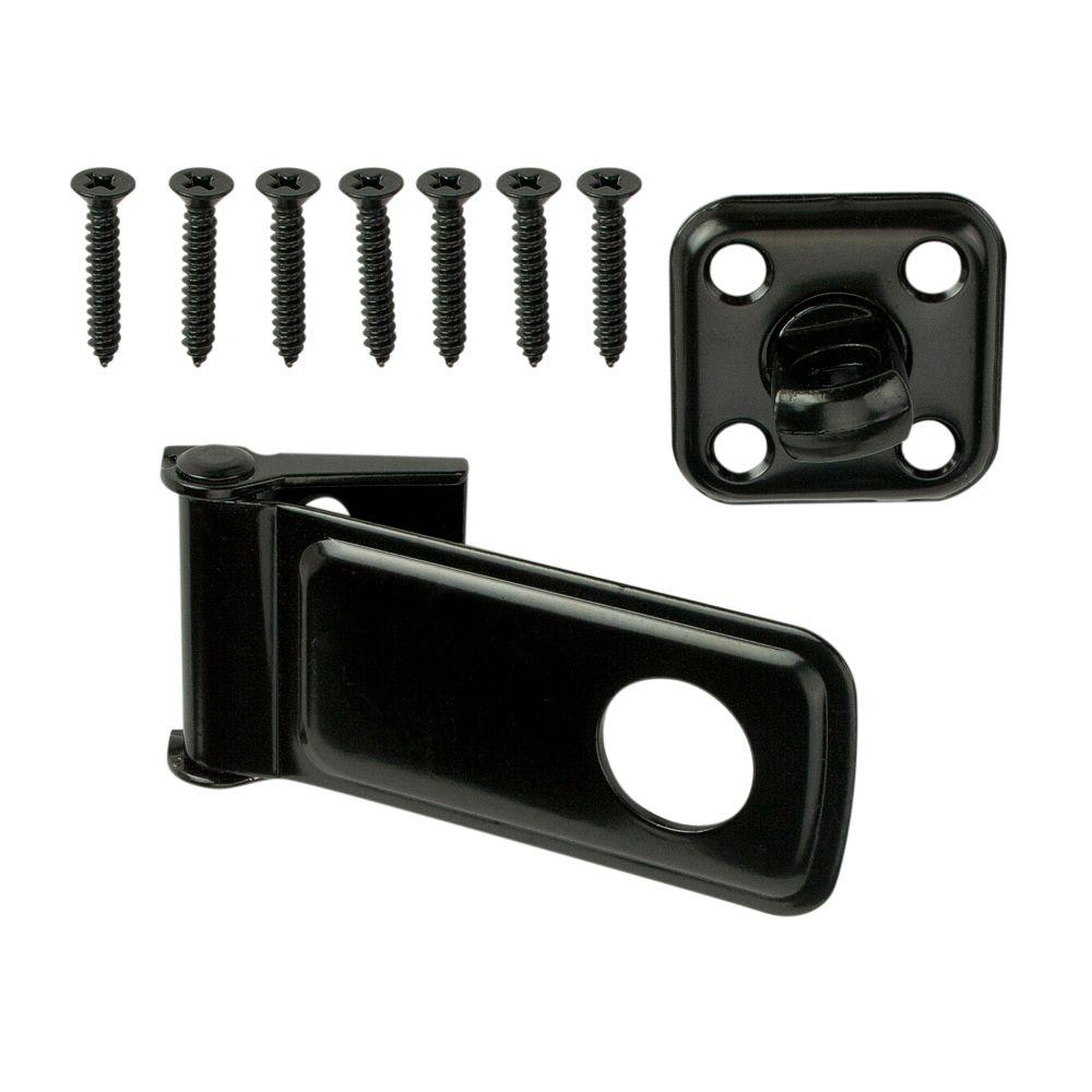 3-1/2 in. Black Rotating Post Safety Hasp