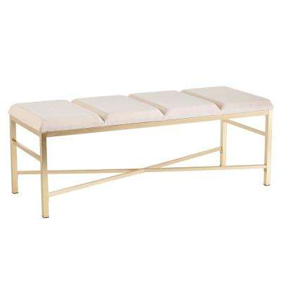 Kayleigh Gold Entryway/Dining Bench