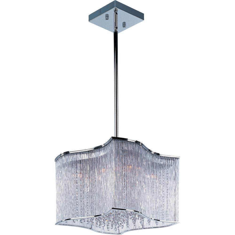 Maxim Lighting Swizzle 12-Light Polished Chrome Pendant Maxim Lighting's commitment to both the residential lighting and the home building industries will assure you a product line focused on your lighting needs. With Maxim Lighting accessories you will find quality product that is well designed, well priced and readily available. Maxim has fixtures in a variety of styles, and a strong presence in the energy-efficient lighting industry, Maxim Lighting is the clear choice for quality lighting.