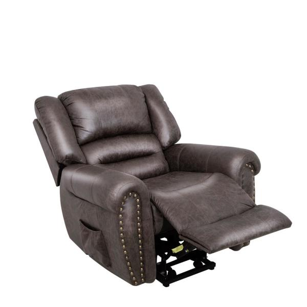 Merax Brown Electric Power Lift Recliner Chair with Remote