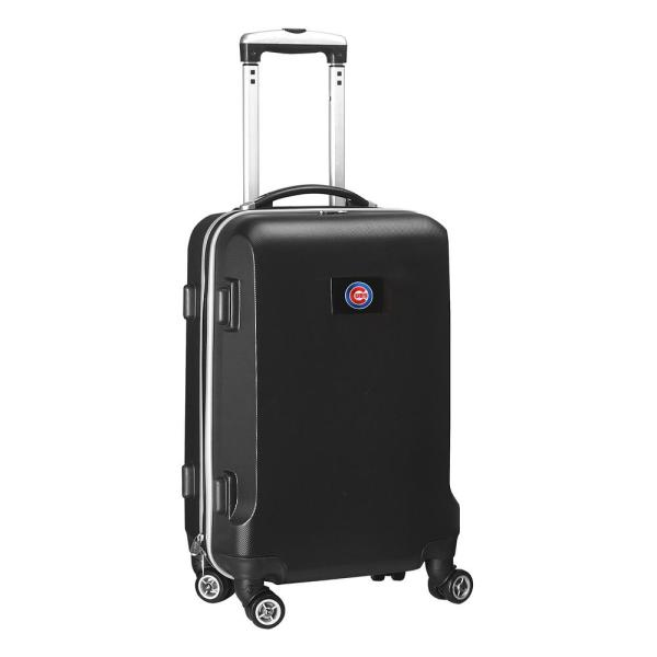 Denco MLB Chicago Cubs Black 21 in. Carry-On Hardcase Spinner Suitcase