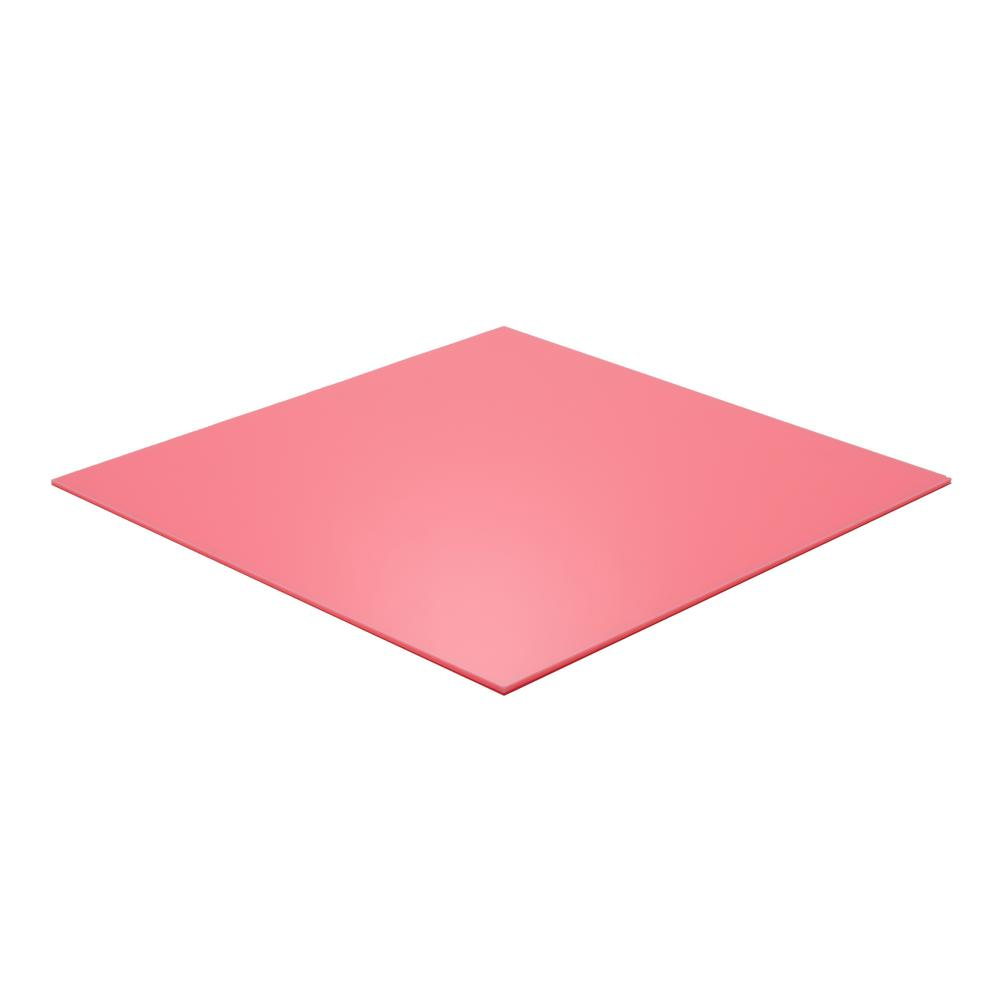Falken Design 24 in  x 24 in  x 1/8 in  Thick Acrylic Pink 3199 Sheet