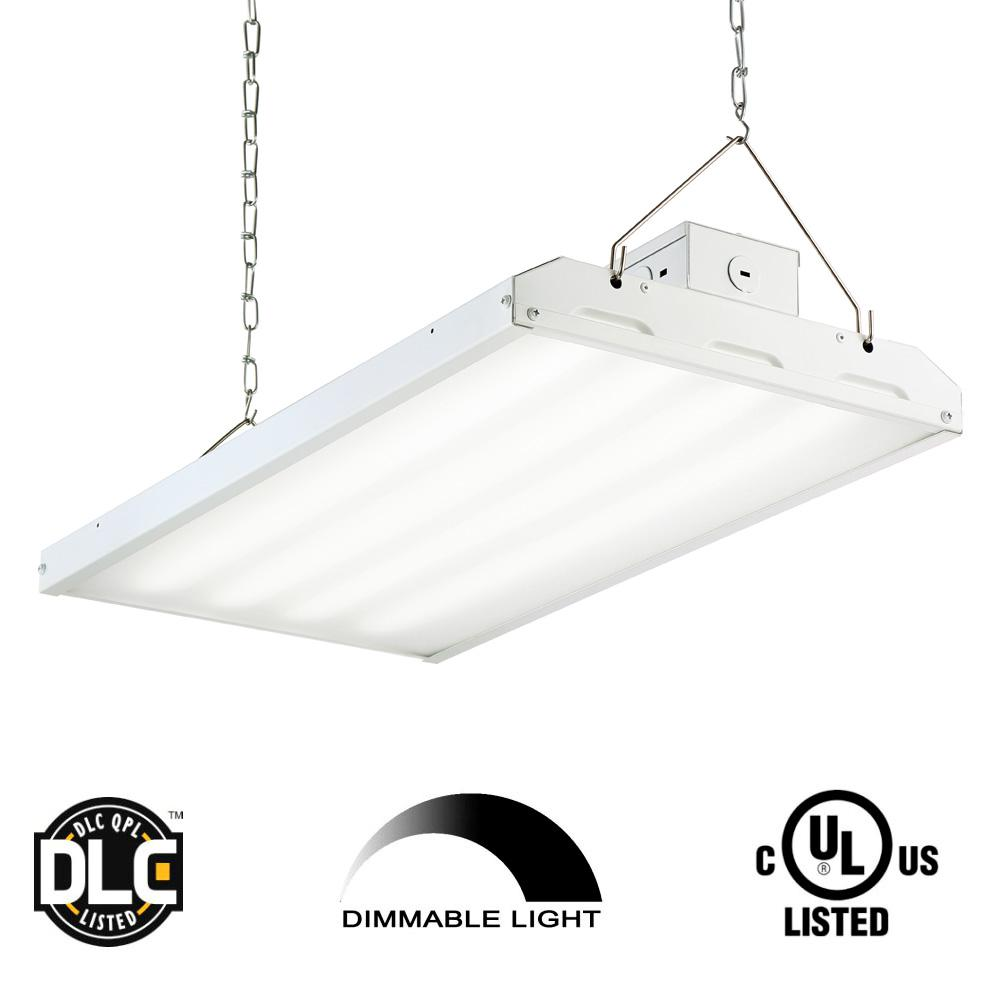 90-Watt 2 ft. White Integrated LED Backlit High Bay Hanging Light
